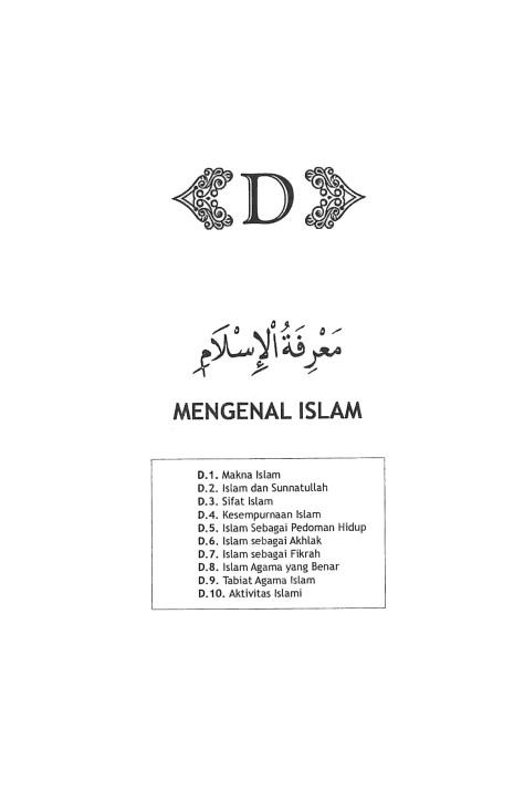 D. MENGENAL ISLAM